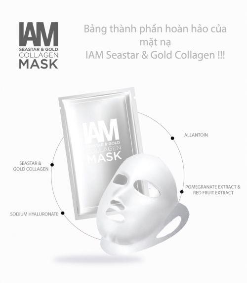 IAM SEASTAR & GOLD COLLAGEN MASK