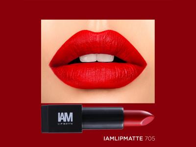 IAM LIP MATTE 705 - Tone đỏ cam đẹp xuất sắc không thể bỏ lỡ